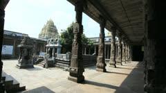 India Tamil Nadu Kanchipuram Ekambareswarar center and columns 7 Stock Footage