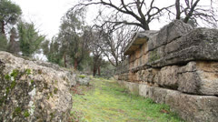 Greek Ruins Stock Footage