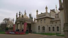 Royal Pavilion Tourists Stock Footage