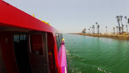 Stock Video Footage of Starboard Side Of Aqualink Boat Leaving Alamitos Bay Harbor