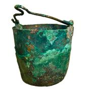Old pot from the bronze age Stock Photos