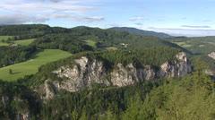 SEMMERING, AUSTRIA - pan mountain range Stock Footage
