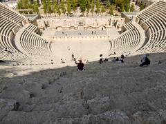 Roman amphitheater in Amman, Jordan - stock photo