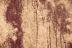 brown grungy wall - stock photo