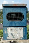 Electrical substation blue box Stock Photos