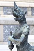Demon statue at wat phra kaew Stock Photos