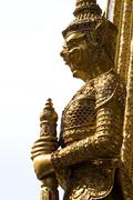 Stock Photo of guardian statues at wat phra kaew