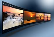 Stock Photo of 3d film strip with nice pictures