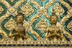 statue at wat phra kaew - stock photo