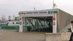 Gosport Ferry Terminal Stock Footage