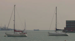 Portsmouth Harbour Entrance Stock Footage