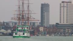 Urban Passenger Ferry Stock Footage