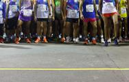 Stock Photo of runners ready to run at starting point