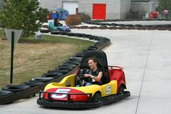 Teenager on the go cart Stock Photos
