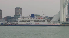 Ferry in Port Stock Footage