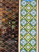 Mosaiikki koriste julkisivujen Teheranissa Iranissa Kuvituskuvat