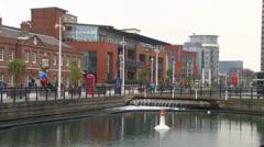 Gunwharf Quays Stock Footage