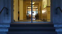 Fancy hotel restaurant Stock Footage