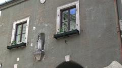 Hungary - windows - madonna Stock Footage