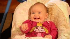 Baby Swinging - stock footage