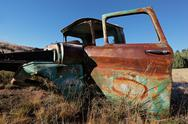 Stock Photo of Rusty old pickup truck