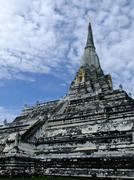 Phukhao thong pagoda in ayutthaya, old capital city, in thailand Stock Photos