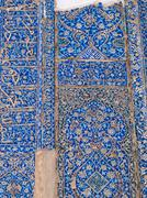 quran calligraphy tiles decoration in blue mosque in tabriz, iran - stock photo