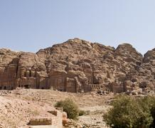 Stock Photo of palace and corinthian tomb, petra jordan