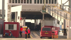 Ferry Loading Car Stock Footage
