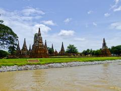 Chaiwatthanaram buddhist monastery in ayutthaya in thailand Stock Photos