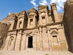 Petra monastery Stock Photos