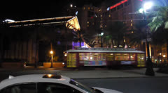 Canal Street Line Streetcar Stock Footage