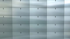 Artist rendering bank safe deposit box. Stock Footage