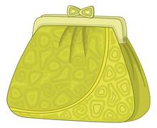 Purse with patterns Stock Illustration