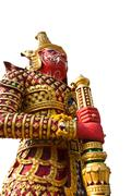 Red giant statue - stock photo