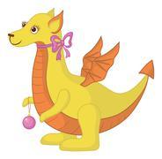 Dragon symboli Itä uudenvuoden Piirros