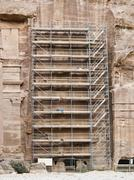 Restauration in Petra - stock photo
