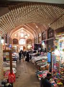 tabriz, iran - may 2: interior of tabriz bazaar on may 2, 2011 in tabriz, ira - stock photo