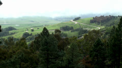 Hilly forest landscape & road to the Hearst Castle. California, USA Stock Footage