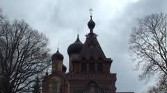 Orthodox Monastery Time Lapse - stock footage
