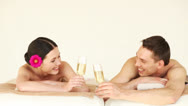 Stock Video Footage of happy couple relaxing in spa salon