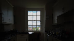 Timelpase Zoom into Window Stock Footage