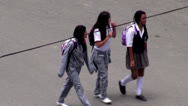 Stock Video Footage of Female Students, High School Kids, Secondary Children
