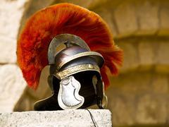Roman Legionar's helmet Stock Photos