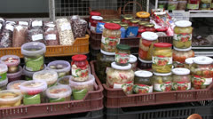 Market - hungary - products Stock Footage