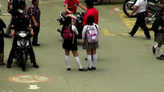 Female Students, High School Kids, Secondary Children - stock footage