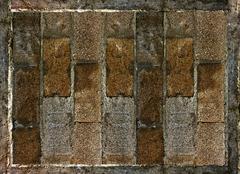 Brick wall background Stock Illustration