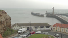 Whitby pier Stock Footage