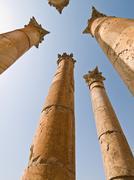Temple of Artemis, Jerash Stock Photos