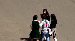 Female Students, High School Kids, Secondary Children Stock Footage